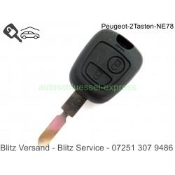 Gehäuse Autoschlüssel 2 Tasten Peugeot 406 NE78