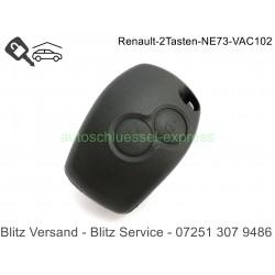 Autoschlüssel Gehäuse Renault Trafic Modus Clio Kangoo 2 Tasten NE73 VA2
