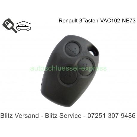 Gehäuse Autoschlüssel Renault Kangoo Clio Master Modus 3 Tasten VAC102 NE73