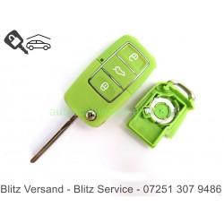 Klappschlüssel VW 3 Tasten Grün