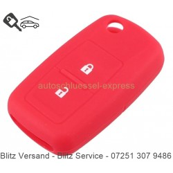 Autoschlüssel Silikonhülle VW 2 Tasten rot