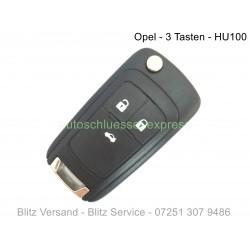 Autoschlüssel Gehäuse Opel 3 Tasten