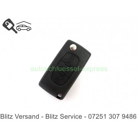 Autoschüssel Gehäuse Citroen 3 Tasten Kofferaum Tasten VA2 Batteriehalter
