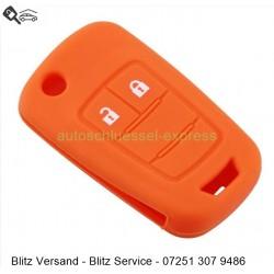 Autoschlüssel Silikonhülle Vauxhall Opel 2 Tasten orange