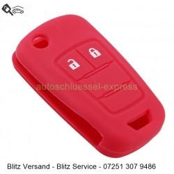 Autoschlüssel Silikonhülle Vauxhall Opel 2 Tasten rot