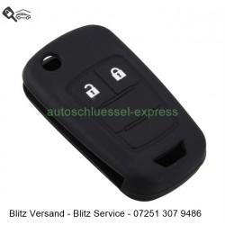 Autoschlüssel Silikonhülle Vauxhall Opel 2 Tasten schwarz