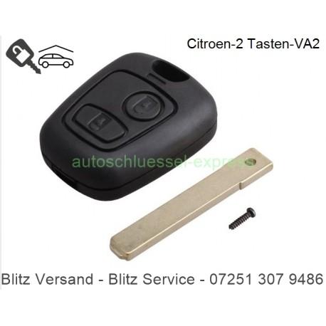 Autoschlüssel Gehäuse Citroen C1 C2 C3 2 Tasten VA2 / HU83