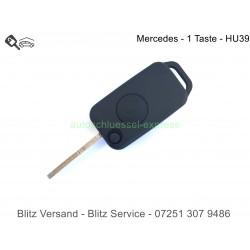 Autoschlüssel Gehäuse Klappschlüssel Mercedes Benz 1 Taste HU39