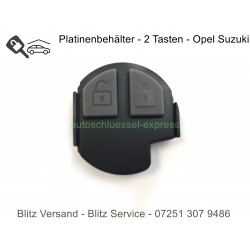 Autoschlüssel Gummitasten und Platinenbehälter für Opel Suzuki 2 Tasten Frequenz 433 Mhz