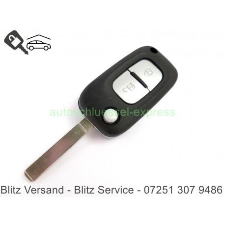 Car key casing Renault VA2 - Mode Twingo KANGOO CLIO Chrome 2 Keys
