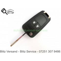 Autoschlüssel Gehäuse Opel Corsa Meriva 2 Tasten HU100