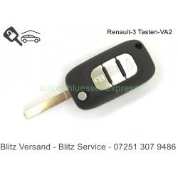 Flip Folding Key 3 buttons VA2 Renault Modus Twingo Kangoo Clio Chrom