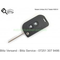 Flip Folding Key rebuild Nissan Patrol Note Navara Micra Xtrail NSN14