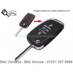 Flip Folding key rebuild KIT Peugeot Partner VA2 3 buttons boot