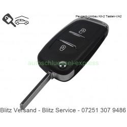 Flip Folding key rebuild KIT Peugeot Partner VA2 2 buttons
