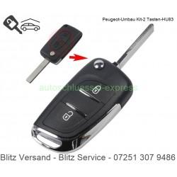 Flip Folding key rebuild KIT Peugeot HU83 2 buttons