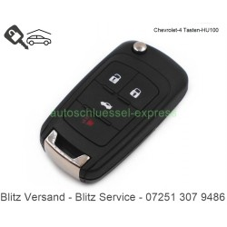 Flip Folding key Cheverolet Camaro Cruze Sonic 4 buttons