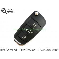 Gehäuse Klappschlüssel 3 Tasten Audi A1 A2 A3 A4 A5 A6 A7 A8 TT Q7 Q5 HU66