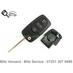 Gehäuse Klappschlüssel 3 TastenAudi A3 A4 A6 A8 Autoschlüssel CR2016 HU86