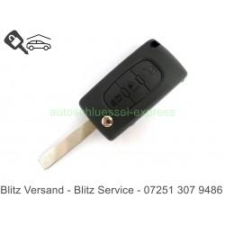 Gehäuse Klappschüssel Shell HU83 - Peugeot 307 407 207 3 Tasten  oder Citroen
